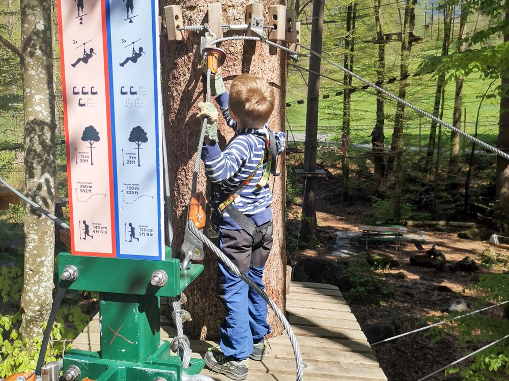 Interlaken Berner Oberland Schweiz mit Kind Seilpark für Familien