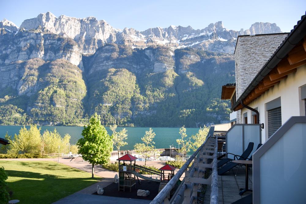 Spielerlebnis Walensee Heidiland Schweiz Aussicht Zimmer Marina Walensee