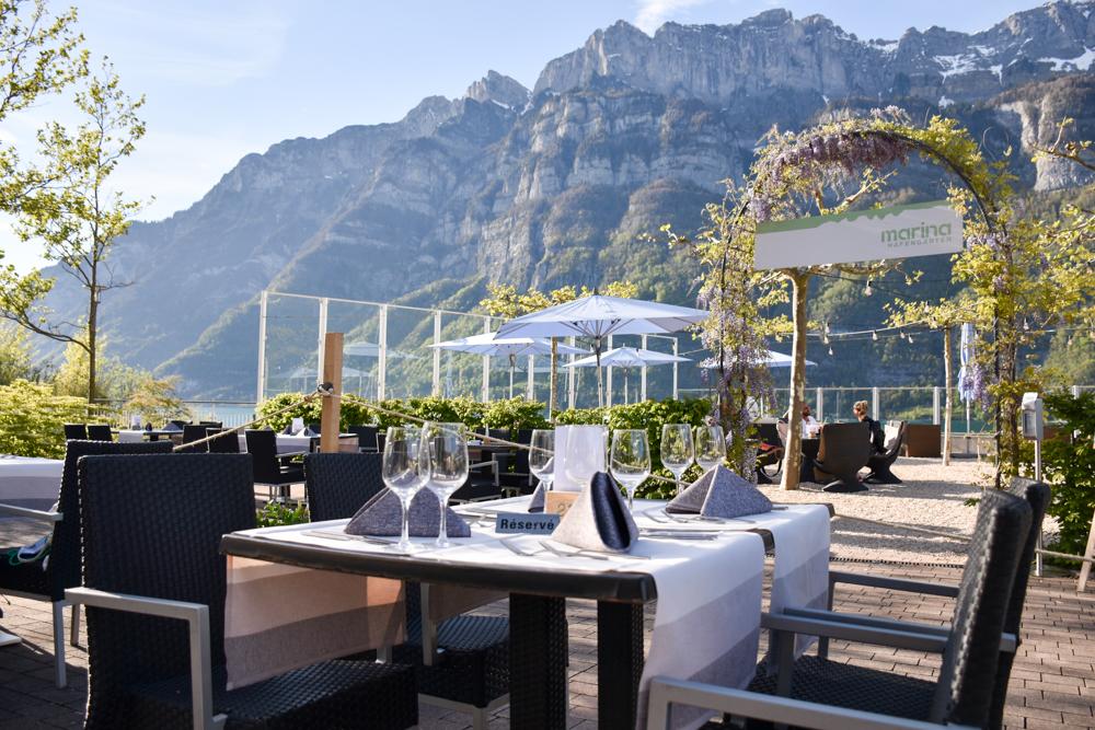 Spielerlebnis Walensee Heidiland Schweiz Restaurant Marina Walensee