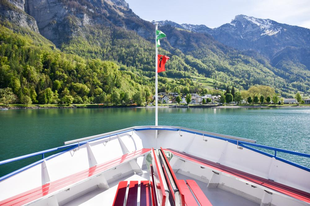 Spielerlebnis Walensee Heidiland Schweiz Schifffahrt Walensee