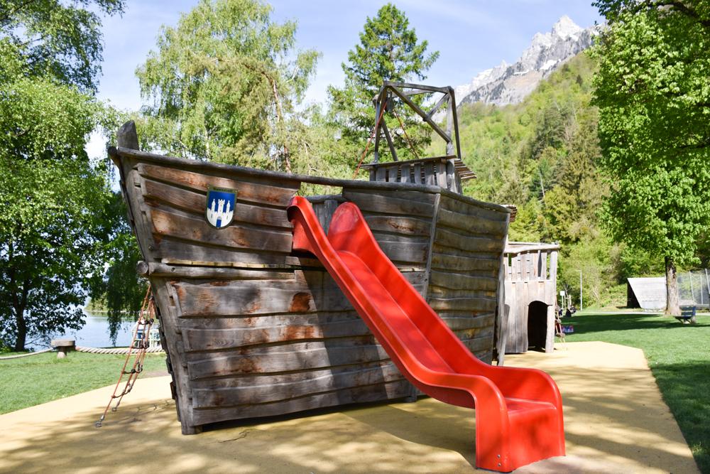 Spielerlebnis Walensee Heidiland Schweiz Spielplatz Walenstadt