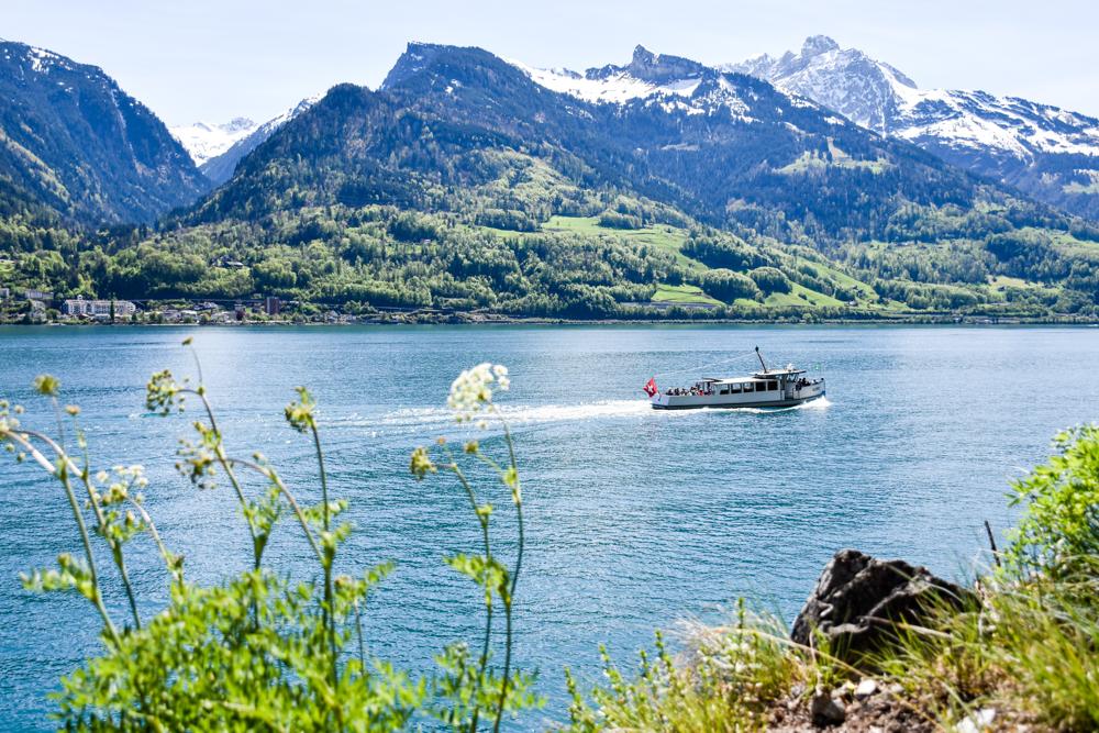 Spielerlebnis Walensee Heidiland Schweiz Wanderweg Quinten Au