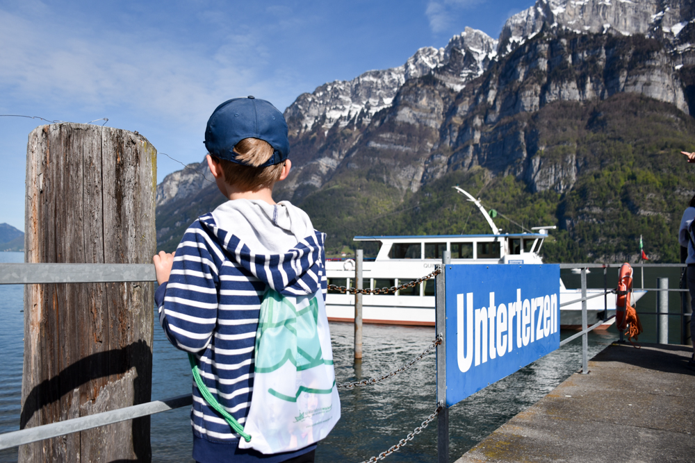 Spielerlebnis Walensee Heidiland Schweiz kleiner Globetrotter Hafen Unterterzen