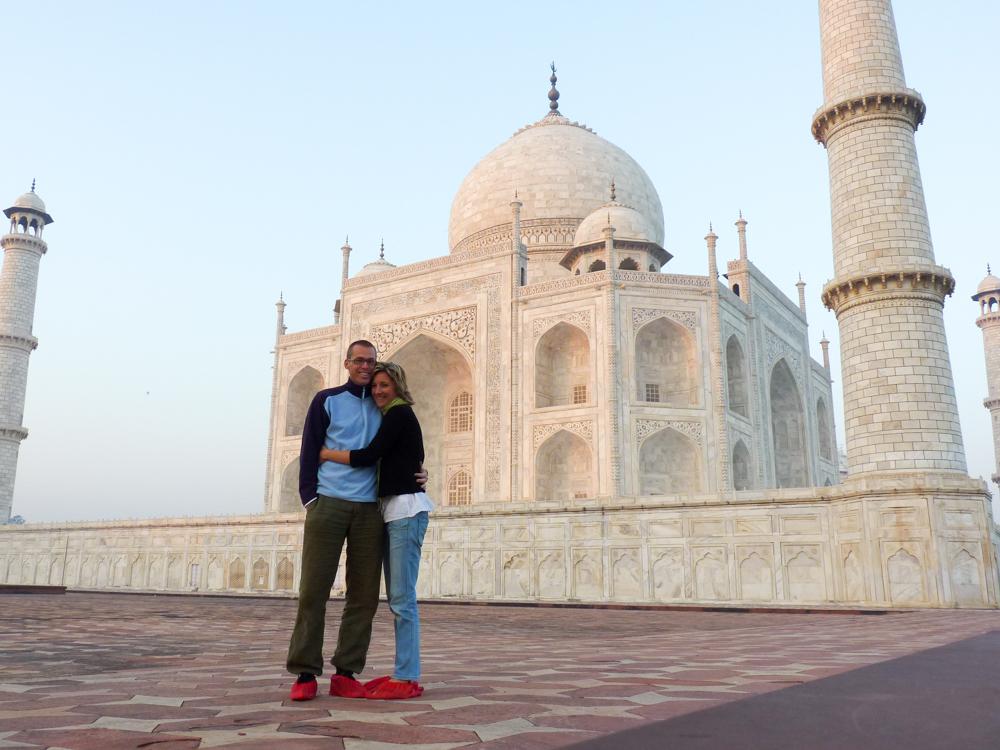 Wer ist Reiseblog Travel Sisi beim Taj Mahal