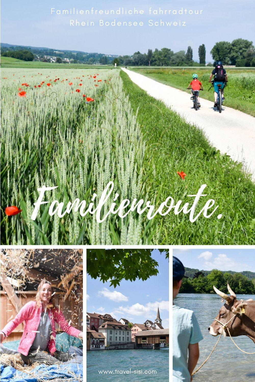 Fahrradtour Familienroute Rhein Bodensee Schweiz