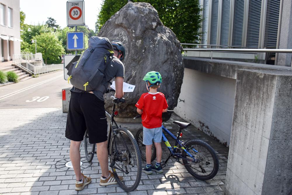 Familienroute Bodensee Rhein Bad Ragaz bis Schaffhausen Fahrradtour Schweiz Detektiv-Trail Kreuzlingen mit Fahrrad