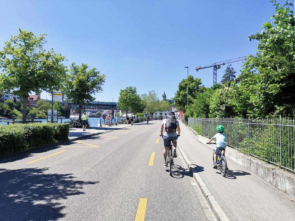 Familienroute Bodensee Rhein Bad Ragaz bis Schaffhausen Fahrradtour Schweiz Etappe 6 nach Schaffhausen