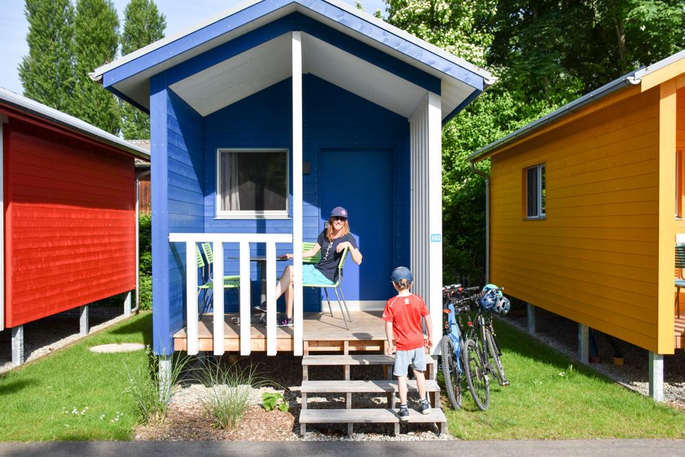 Familienroute Bodensee Rhein Bad Ragaz bis Schaffhausen Fahrradtour Schweiz Fischerhaus auf dem Camping Fischerhaus in Kreuzlingen