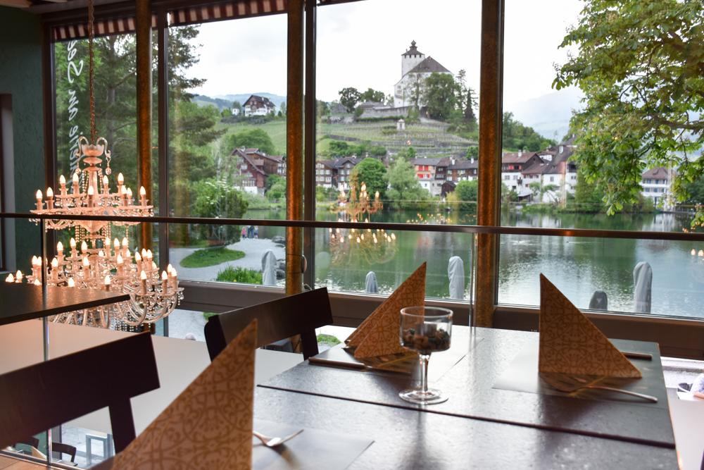 Familienroute Bodensee Rhein Bad Ragaz bis Schaffhausen Fahrradtour Schweiz Galerie am See Buchs