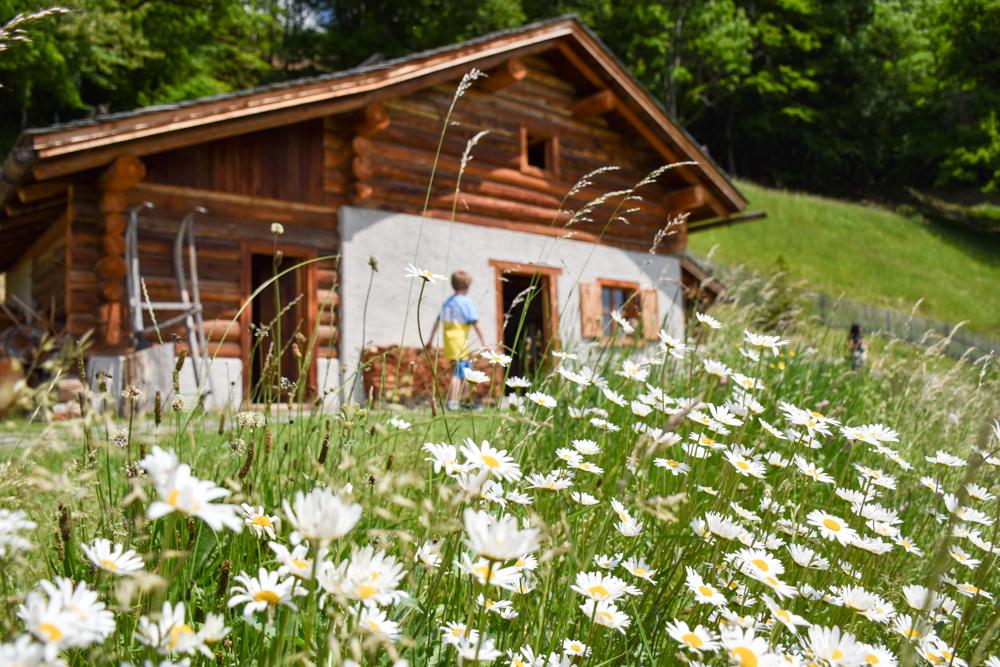 Familienroute Bodensee Rhein Bad Ragaz bis Schaffhausen Fahrradtour Schweiz Heididorf Alphütte