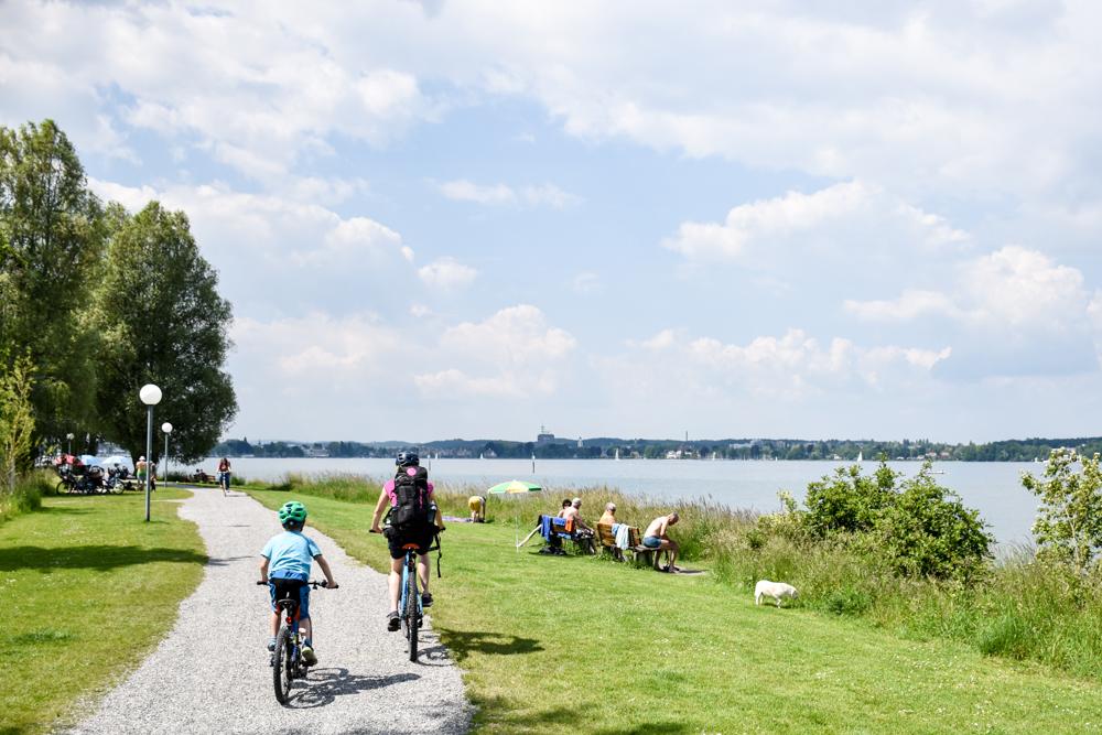 Familienroute Bodensee Rhein Bad Ragaz bis Schaffhausen Fahrradtour Schweiz Kreuzlingen Etappe 4 Bodensee