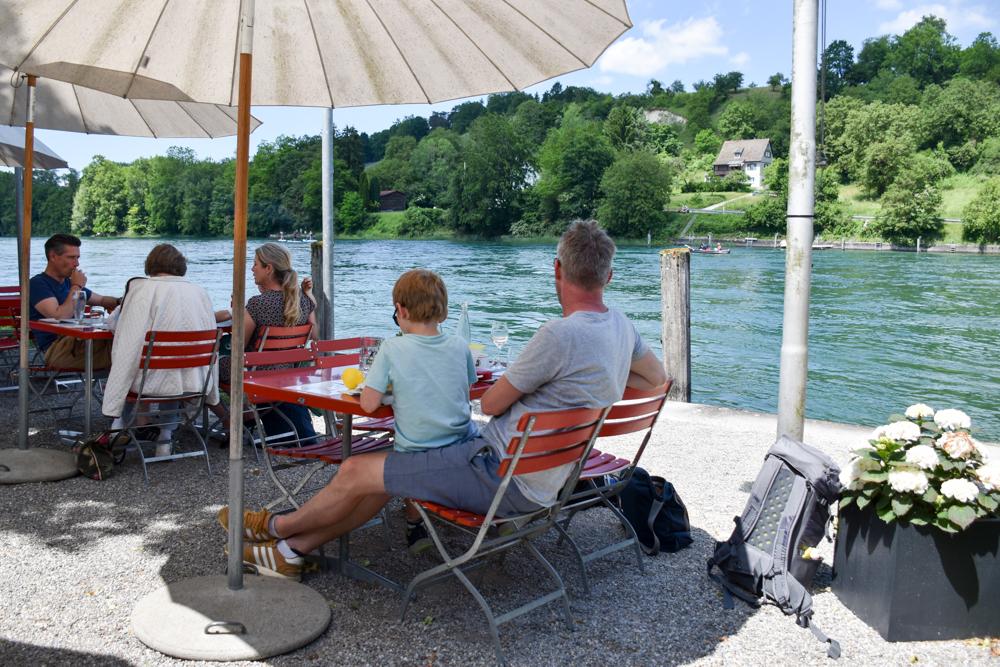 Familienroute Bodensee Rhein Bad Ragaz bis Schaffhausen Fahrradtour Schweiz Restaurant Unterhof Diessenhofen