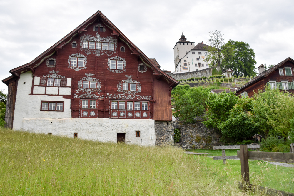 Familienroute Bodensee Rhein Bad Ragaz bis Schaffhausen Fahrradtour Schweiz Schlangenhaus und Schloss Werdenberg