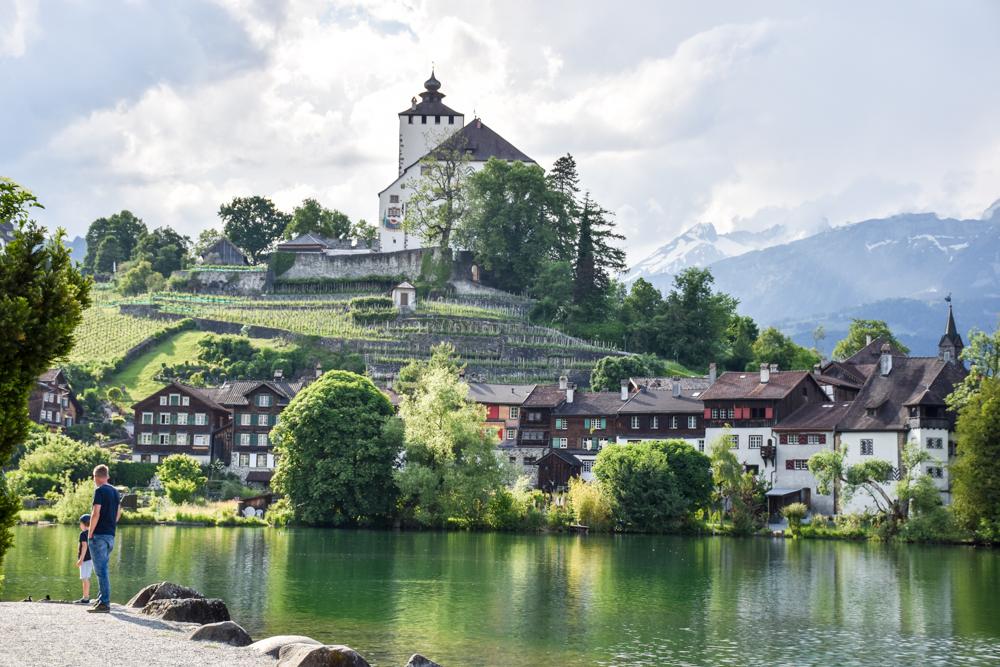 Familienroute Bodensee Rhein Bad Ragaz bis Schaffhausen Fahrradtour Schweiz Werdenbergersee