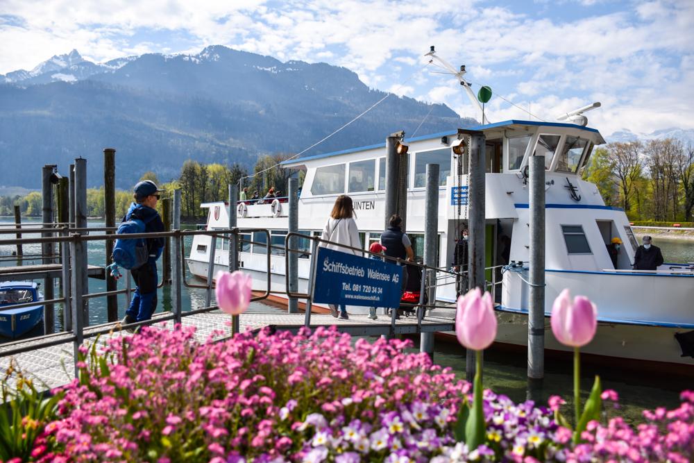 Themenwanderung Walensee Betlis Schweiz Amdo Mungg und Walis Schatz Schifffahrt Weesen Betlis