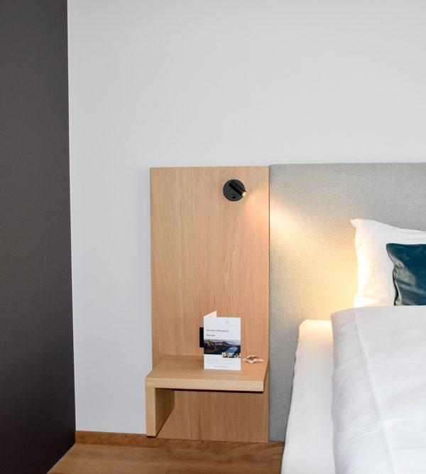 Hoteltipp Walensee Schweiz Quarten Hotel Neu-Schönstatt Bett