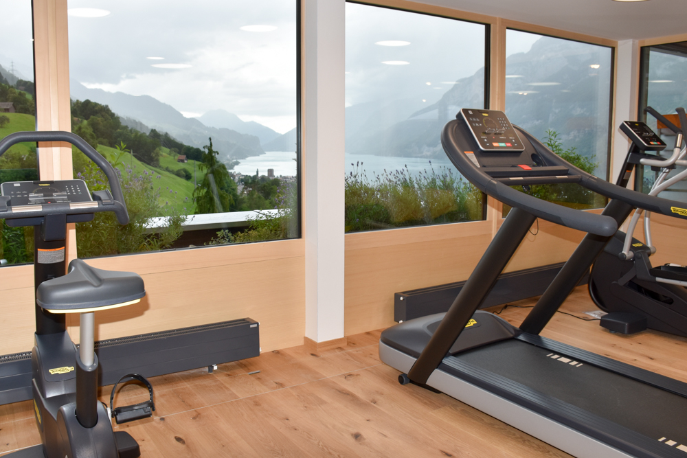 Hoteltipp Walensee Schweiz Quarten Hotel Neu-Schönstatt Fitnessraum