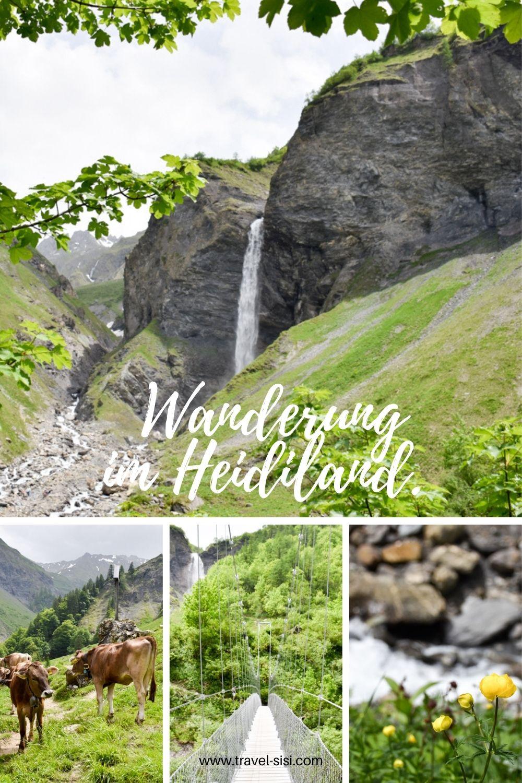 Ausflugstipp Wanderung Wasserfallarena Batöni Heidiland Schweiz Pinterest