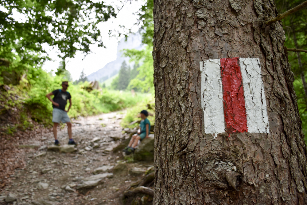 Ausflugstipp Wanderung Wasserfallarena Batöni Heidiland Schweiz Verschnaufpause