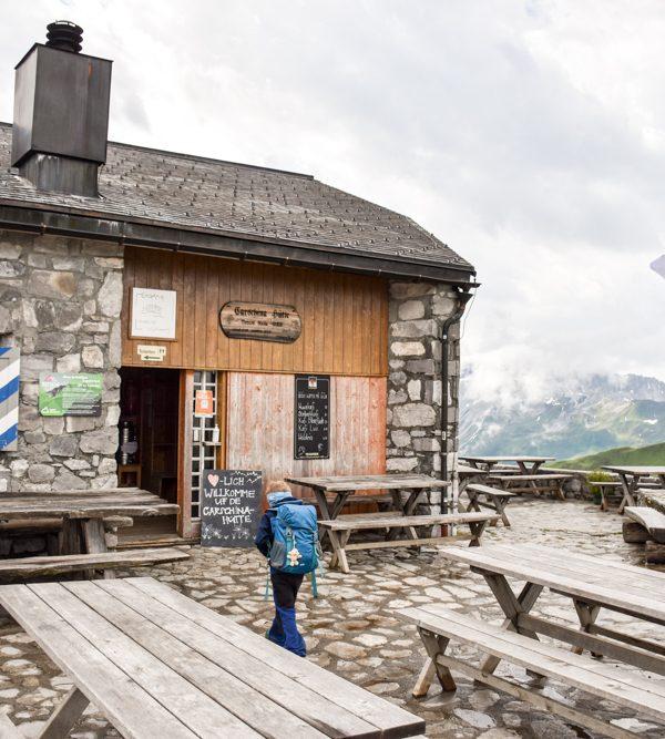 Carschinahütte SAC mit Kindern Prättigau Graubünden Schweiz