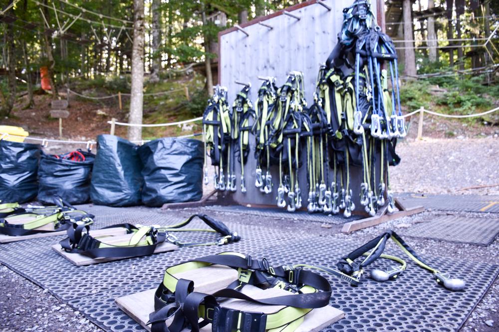 Ausflugstipp Erlebnisberg Golm Montafon Österreich Ausrüstung Waldseilpark