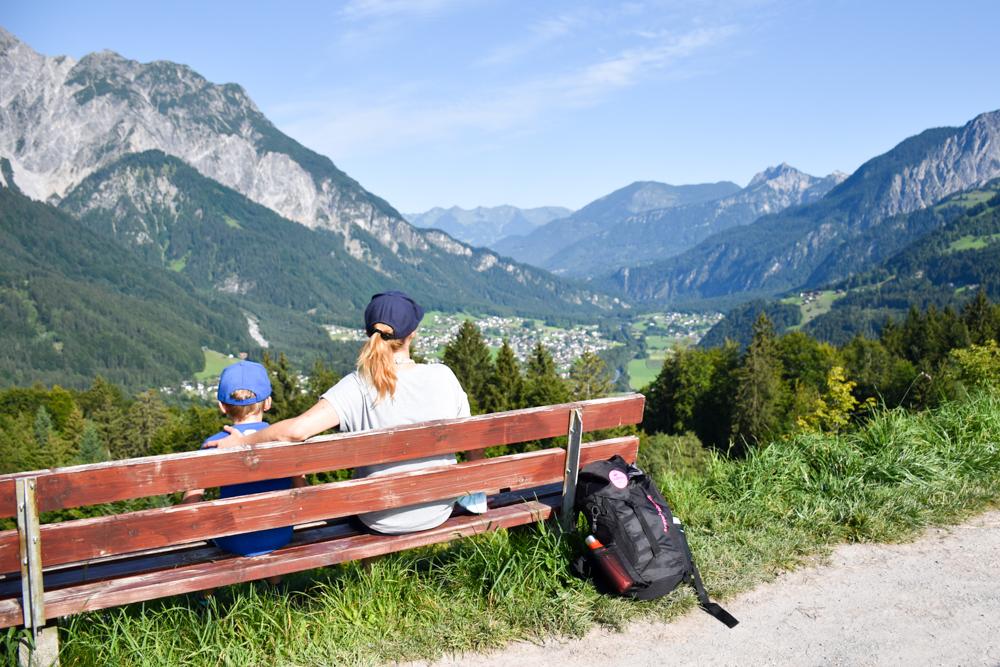 Ausflugstipp Erlebnisberg Golm Montafon Österreich Aussicht Montafon vom Golm