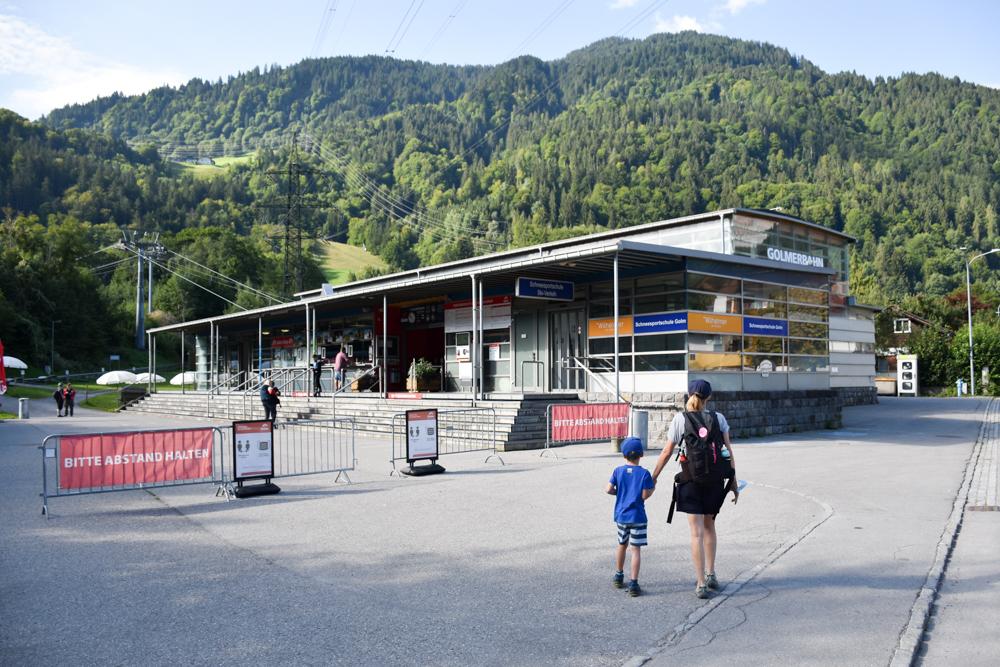Ausflugstipp Erlebnisberg Golm Montafon Österreich Talstation Golmerbahn