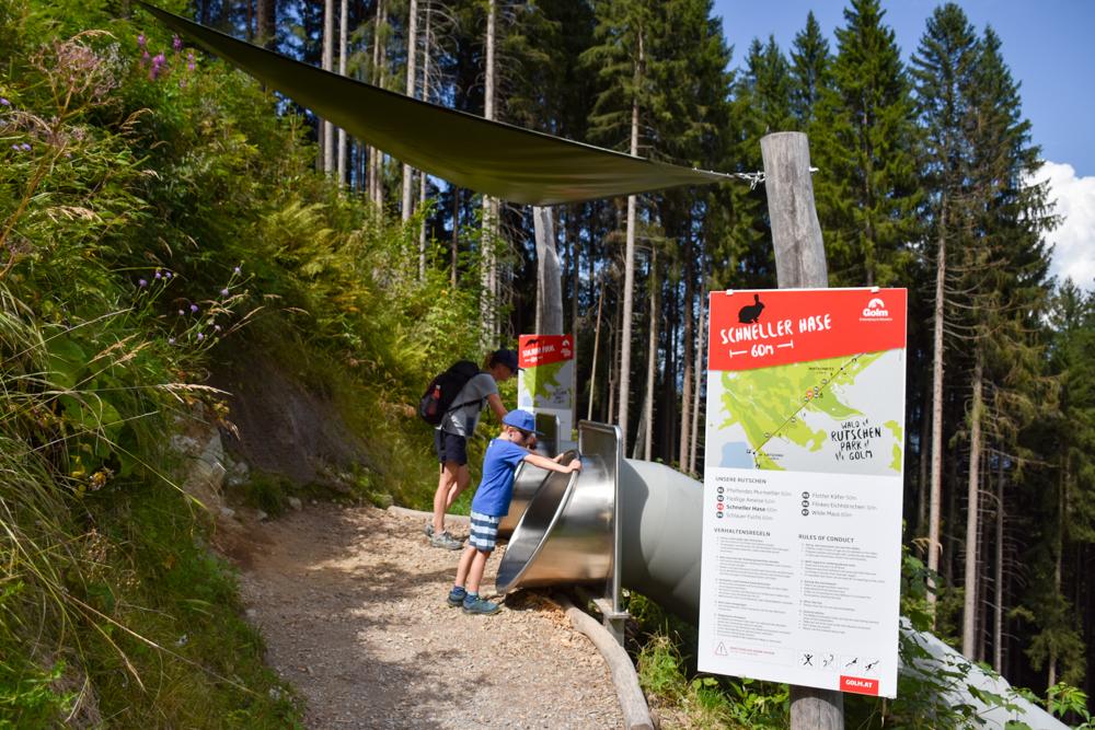 Ausflugstipp Erlebnisberg Golm Montafon Österreich Waldrutschenpark