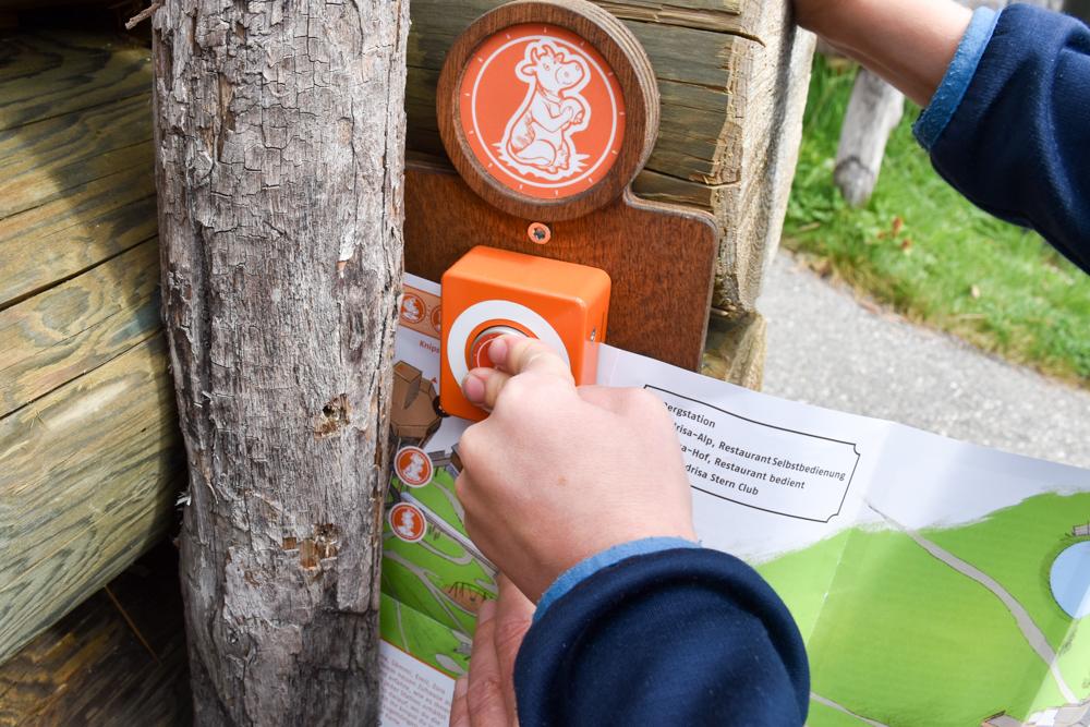 Ausflugstipp Madrisa Klosters Prättigau Graubünden Schweiz Stempel Suchspiel Madrisa-Land
