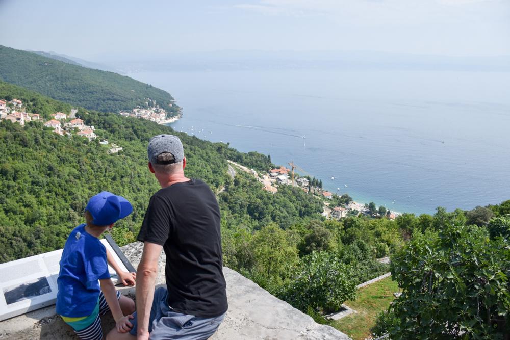 Camping Rundreise Kroatien Familie Aussicht von Moscenicka Draga