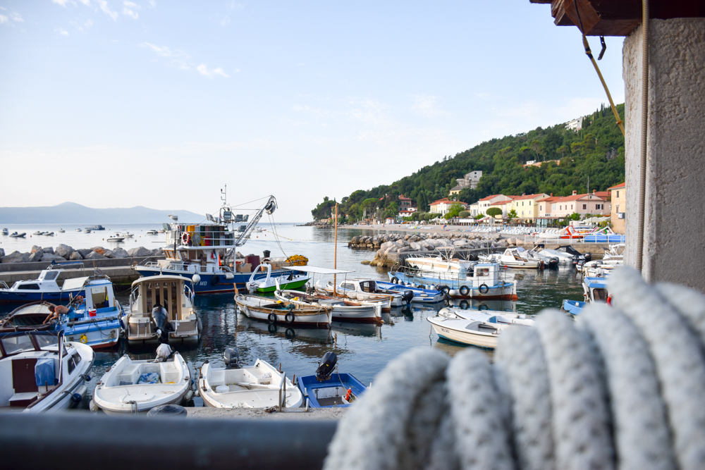 Camping Rundreise Kroatien Familie Hafen Moscenicka Draga