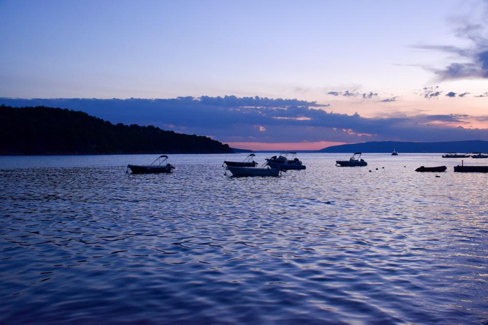 Camping Rundreise Kroatien Familie Sonnenuntergang Cres