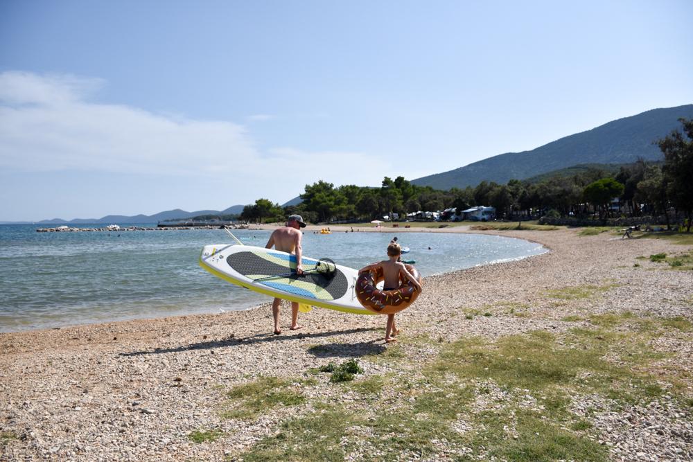 Camping Rundreise Kroatien Familie Strand Camping Lopari Resort Nerezine