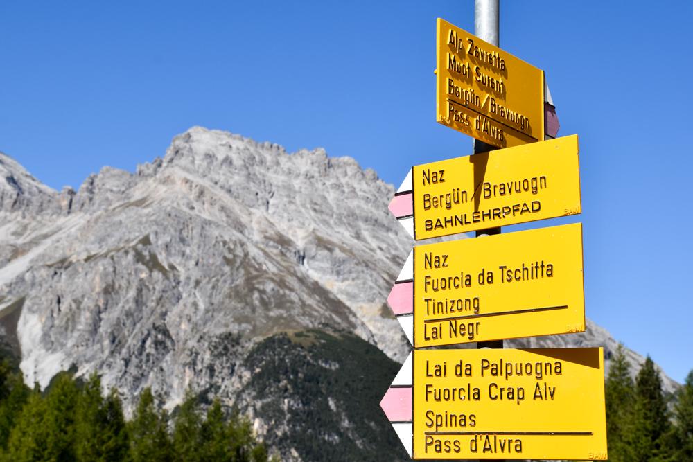 Ausflugstipp Bergün Graubünden Schweiz Bahnerlebnisweg Albula