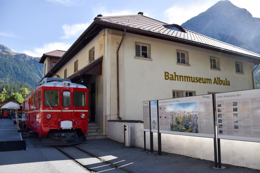 Ausflugstipp Bergün Graubünden Schweiz Bahnmuseum Albula